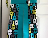 Groovy Guitars Diaper Stacker, fabrics are your choice, Lolas Lovies handmade baby bedding