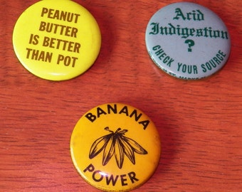 Vintage 60s 'Drug' Button Pins