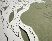 papercut ketubah | wedding vows | Oak Tree