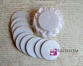 "1.5"" White ADHESIVE Felt Circles - Sticky Felt Circles - Felt Backing - 20 Pieces - DIY Headband Supplies - Wholesale Supplier Flower Backs"