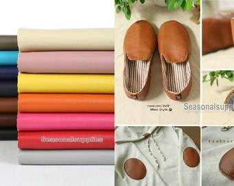 Colorful Faux Leather, PU Leather Fabric, Soft Matte Imitation Leather- Half Yard 14 colors (QT230)