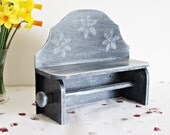 Paper Towel Holder Shabby Chic Furniture Grey and White Kitchen Accessories