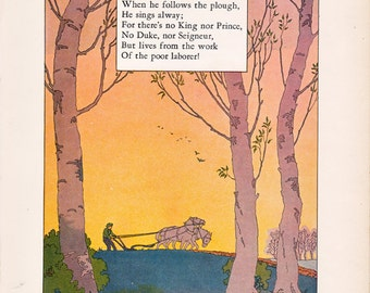 vintage children's book Illustration by Maud and Miska Petersham from Nursery Friends from France