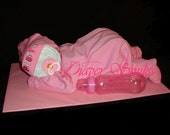 "Diaper Cake Baby Girl 19"" inches Long"