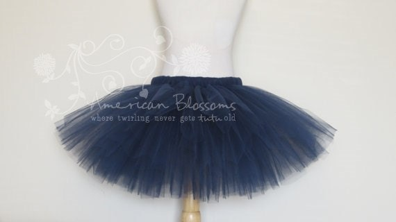 Items Similar To Navy Blue Tutu Skirt Wedding Flower Girl Toddler Girls Baby Newborn By American Blossoms On