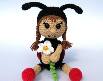 Ladybird Katy- Amigurumi Crochet Pattern / PDF e-Book / Stuffed Animal Tutorial