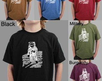"""Boy's T-shirt - Created using the quote """"That's One small step for man..."""