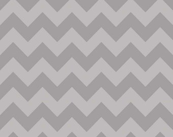 SALE | Gray Chevron Fabric by Riley Blake - 1/2 Yard