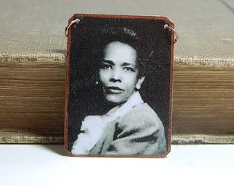 Ella Baker necklace mixed media jewelry African American activist