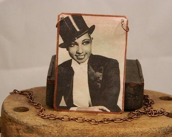 Josephine Baker necklace mixed media jewelry music dance
