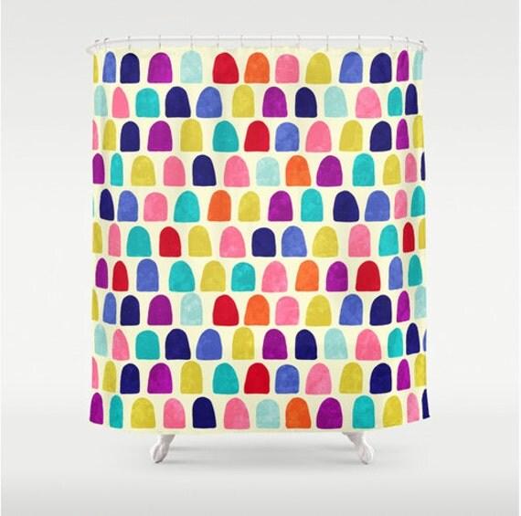 Duschvorhang moderne badezimmer dekor in fröhlichen farben modernes