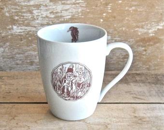 Mug with the Scarecrow King of Oz, Wizard of Oz Mug, Large 16 oz Coffee Cup, Ready to Ship