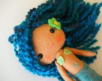Felt Mermaid Doll - Gingermelon Doll -