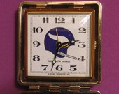Official 1971 NFL Travel Alarm Clock Ultimate Fan MN Vikings Brass Trim Japan Movement