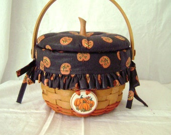Longaberger Little Pumpkin Basket with Lid #16021
