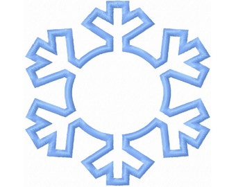 Winter Snowflake Applique Embroidery Design 3x3 4x4 5x5 6x6 INSTANT DOWNLOAD