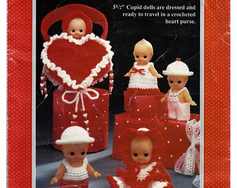 Cupids On The Go  Doll Crochet Pattern Fibre Craft FCM181