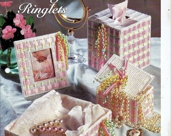Plastic Canvas Pattern Vanity Ringlets set The Needlecraft Shop 954014