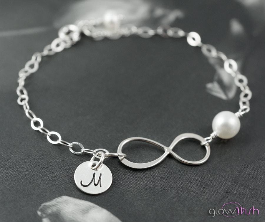 Personalized infinity bracelet infinity symbol karma