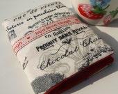 Tea bag wallet - Tea bag holder - Tea bag pouch - Time for tea