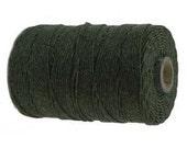 Dark Emerald Green Waxed Linen, 4 ply, 10 yards