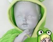 BABY & TODDLER Frog Hoodie, Costume, Vest, Jacket, Hand-made, Cosplay