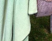 Vintage Wool Blanket Canadian Chs. Chasse Fils Apple Green Camp