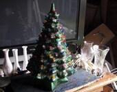 Vintage Glass Christmas Tree Light up Collectible Tree