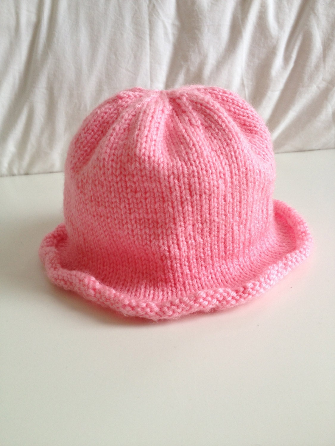 Knitting Pattern For Baby Sun Hat : Baby Sun Hat Knitting Pattern PDF