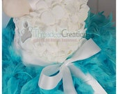 Feather Dress- Tiffany Blue Tutu Dress - Tiffany and Co Dress - Tiffany dress - Hydrangea Tutu Dress