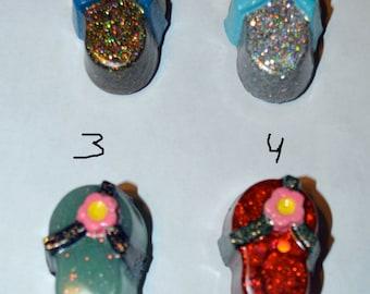 Glitter Resin Flip Flop Magnet