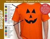 Jack O'Lantern Halloween Costume T-shirt — Any color/Any size - Adult S, M, L, XL, 2XL, 3XL, 4XL, 5XL  Youth S, M, L, XL