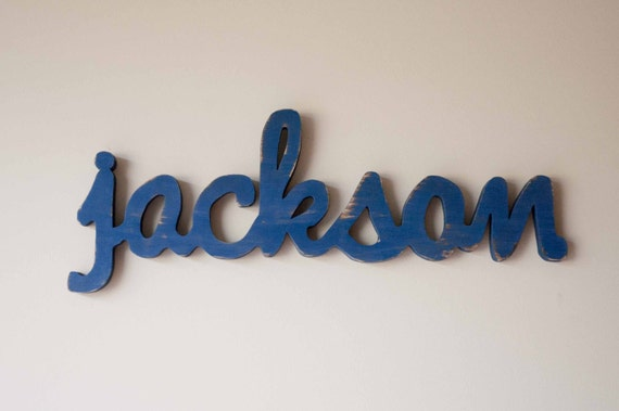 Wooden name sign, Baby Name Plaque, Large Personalized nursery name baby wall hanging nursery decor wooden wall art, above a crib