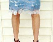White Lace Trimmed Slip Extender