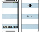 HTC One Case Decal Skin Cover - Blue Stripes