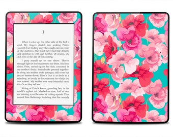 Amazon Kindle Paperwhite Skin Cover - Hipster Floral  - Kindle Cover, Kindle Paperwhite Cover