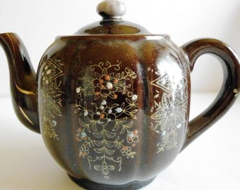 Vintage Gibson Teapot Hand-painted   Japan