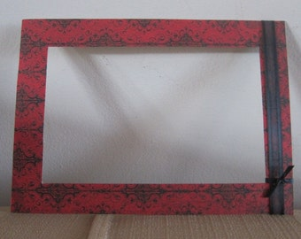 Victorian Red Photo Matte, Victorian Matte for Frame, Red Mattes, Victorian Decor, Christmas Frame, 4x6 red matte, 5x7 Victorian Matte