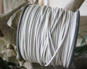 Round Leather Cord 1.5 MM Jewelry craft Lace Summer White 4 Yards
