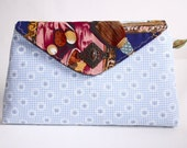 Azure n' Daisies envelope clutch purse (limited edition) - Catalina range