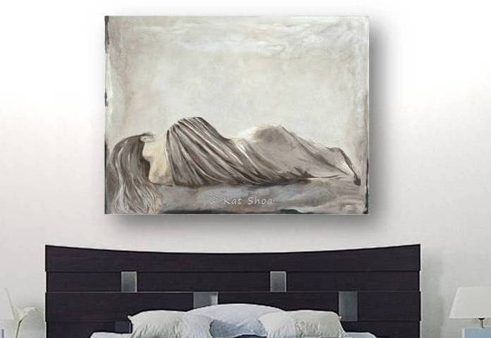 Very Large Wall Art Sexy Bedroom Wall Decor Woman By