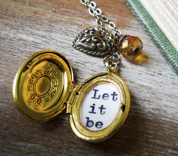 Beatles Charm Bracelet: Beatles Inspirational Necklace Locket Jewelry With Let It Be