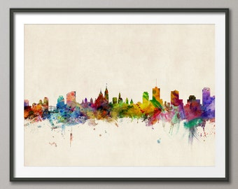 Ottawa Skyline, Ottawa Canada Cityscape Art Print (508)