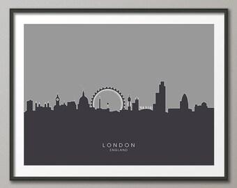 London Skyline, London Cityscape England, Art Print (616)