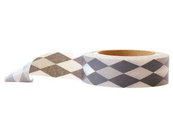 Harlequin Grey Washi Tape