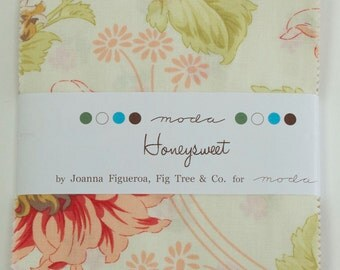 LAST ONE!!  HONEYSWEET Charm Pack by Fig Tree & Co. for Moda Quilt Fabrics.