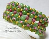 Beadwoven Bracelet, Beaded Bracelet, Seed Bead Bracelet, Beaded Cuff, Beadwork, Beaded Jewelry, Embellished Bracelet,Beadwork Jewelry, Gift