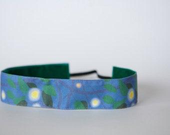 "No Slip Headband Fireflies Spoonflower Fabric 1.5"""