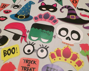 PDF - Halloween Photo Booth Props - Printable DIY