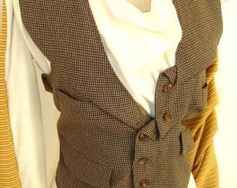 SALE Eco-K'ture REVOLUTION 'Author' Customised vintage tweed waistcoat